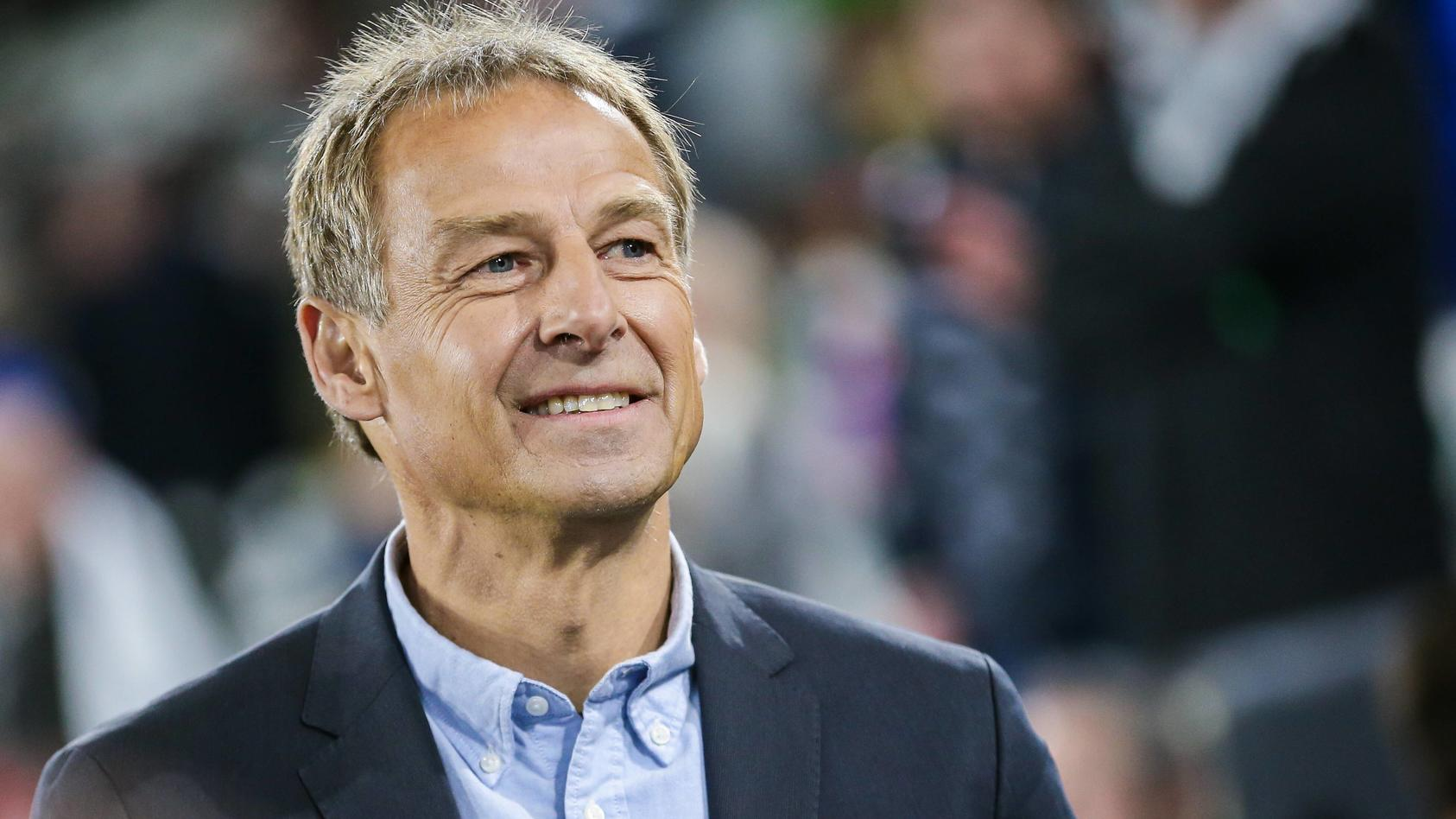 Juergen Klinsmann TV Experte RTL ehemaliger Bundestrainer DFB regulations prohibit any use o