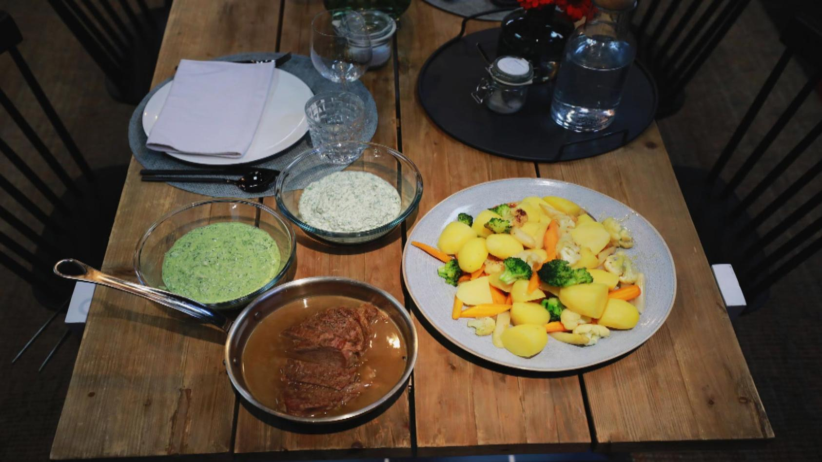 Crème de la Crème – Zarter Gaumenschmaus: Tafelspitz mit jungem Gemüse und grüner Sauce