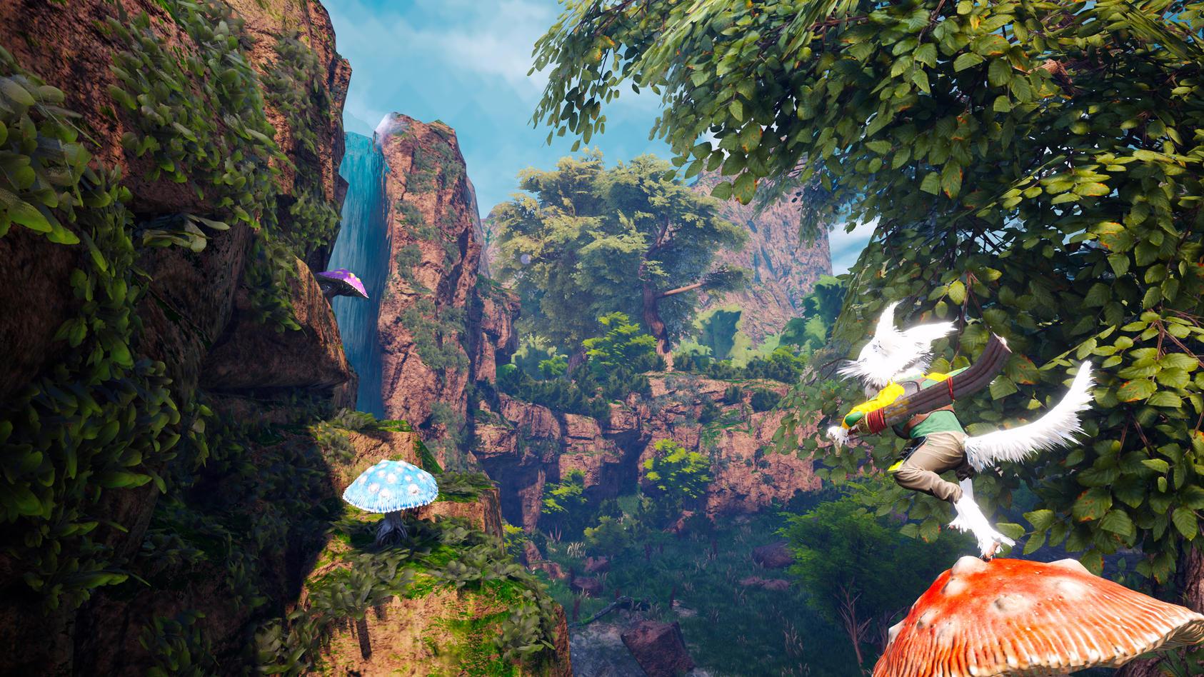 In Biomutant muss der Spieler in einer bunten Welt eben diese retten.