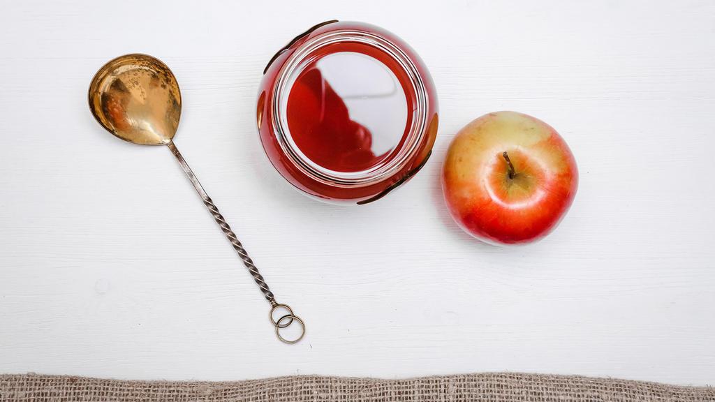Apfel und Tee