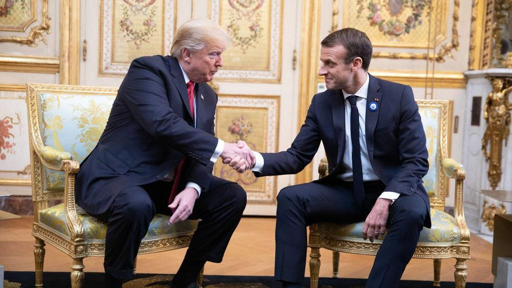 Donald Trump und Emmanuel Macron
