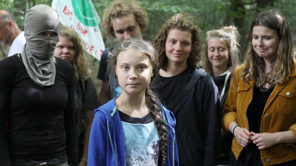 Greta Thunberg besuchte im August 2019 den Hambacher Forst.