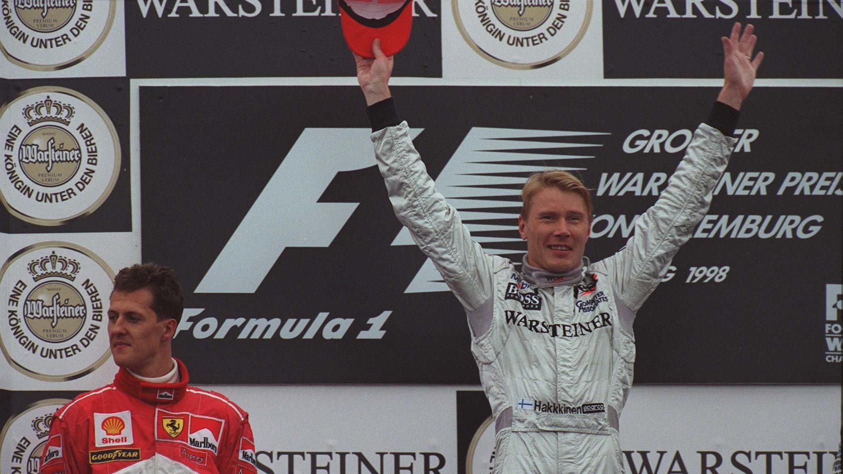 Michael Schumacher und Mika Häkkinen