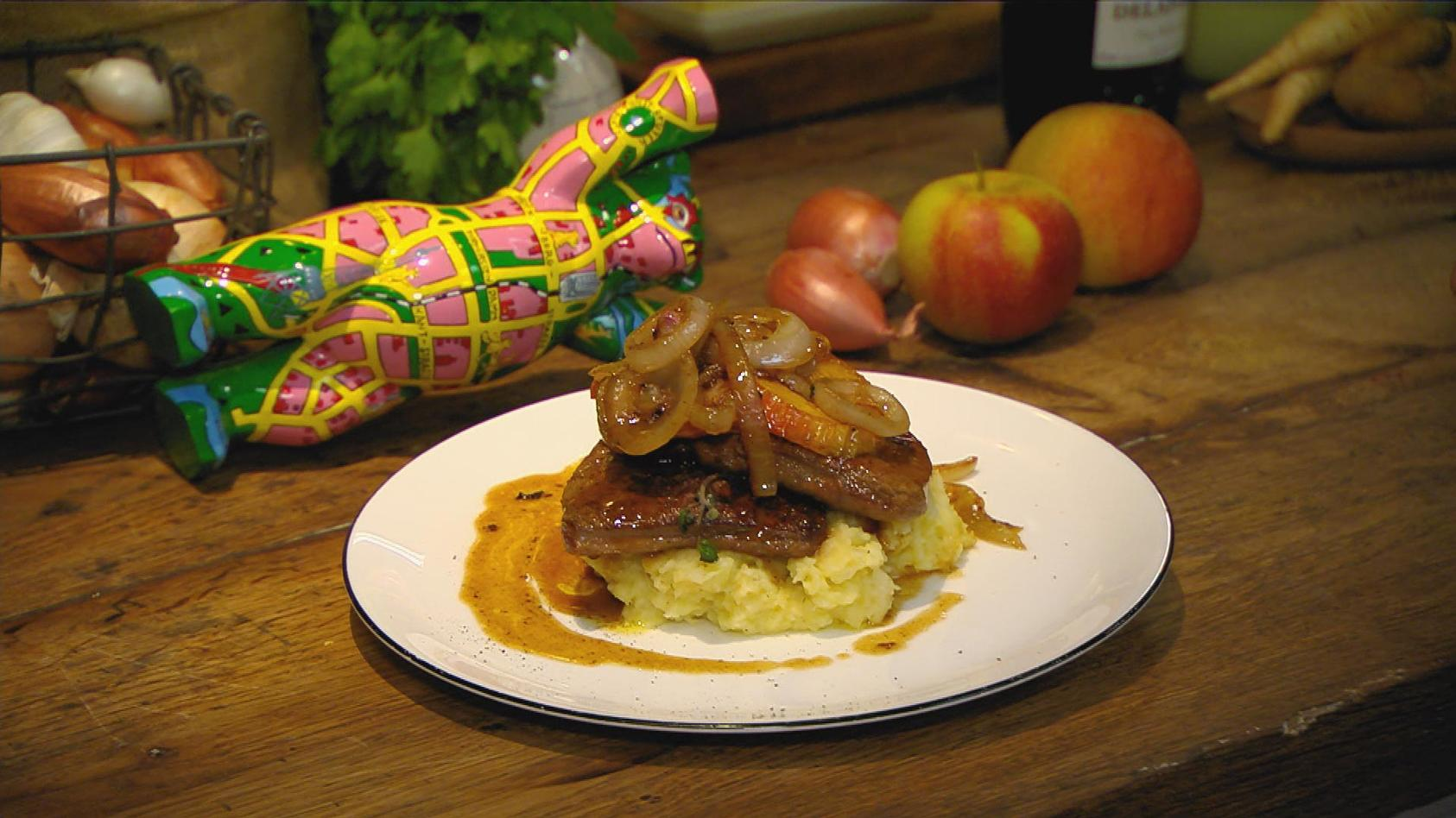 Dit is knorke – Leckeres aus der Hauptstadt: Leber Berliner Art mit Petersilien-Kartoffelpüree