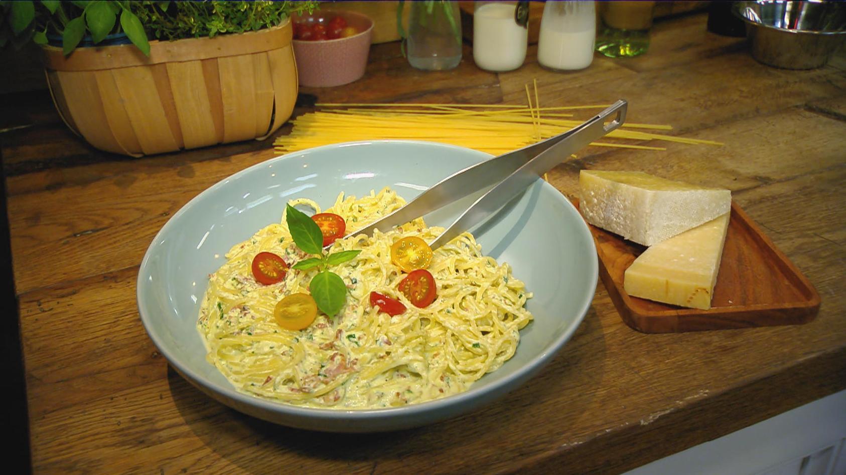 Heute gibt's Pasta. Basta!: Spaghetti mit Bärlauch-Carbonara