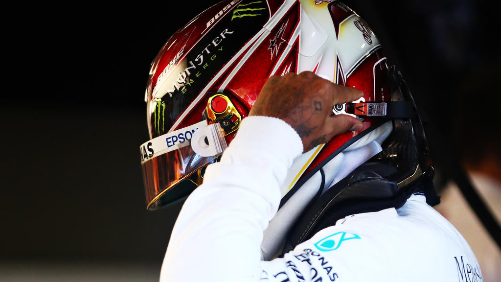 SPA, BELGIUM - AUGUST 30: Lewis Hamilton of Great Britain and Mercedes GP prepares to drive in the garage during practice for the F1 Grand Prix of Belgium at Circuit de Spa-Francorchamps on August 30, 2019 in Spa, Belgium. (Photo by Dean Mouhtaropoul