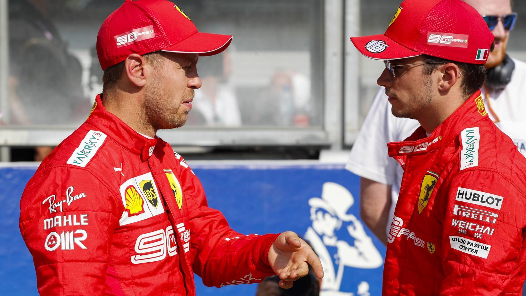 2019 Belgian GP SPA FRANCORCHAMPS BELGIUM AUGUST 31 Sebastian Vettel Ferrari and pole winner