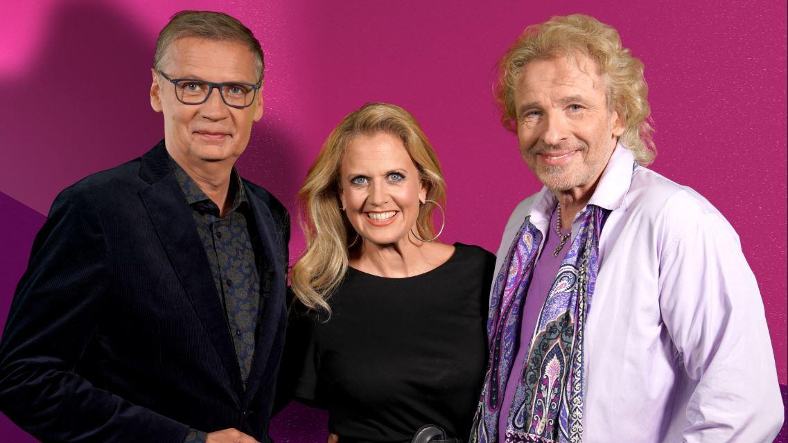 """Günther Jauch, Barbara Schöneberger und Thomas Gottschalk in der RTL-Show """"Denn sie wissen nicht, was passiert"""""""