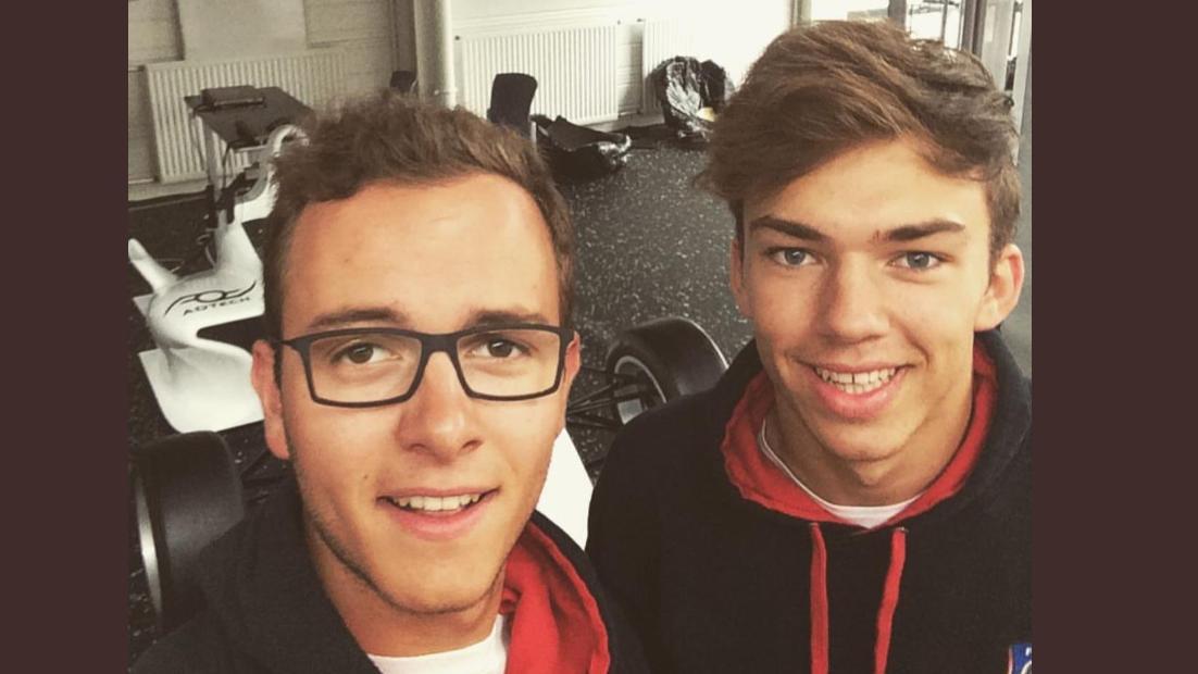 Antoine Hubert & Pierre Gasly