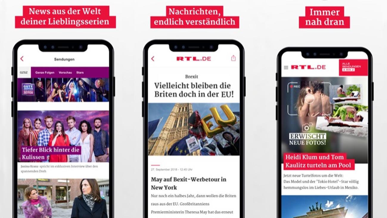 RTL.de für iOS und Android: Serien, Shows und
