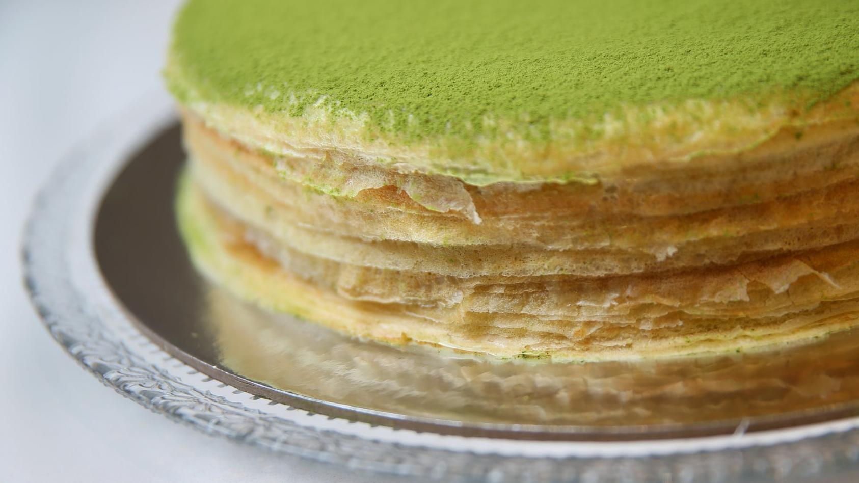 Mille Crêpes cake