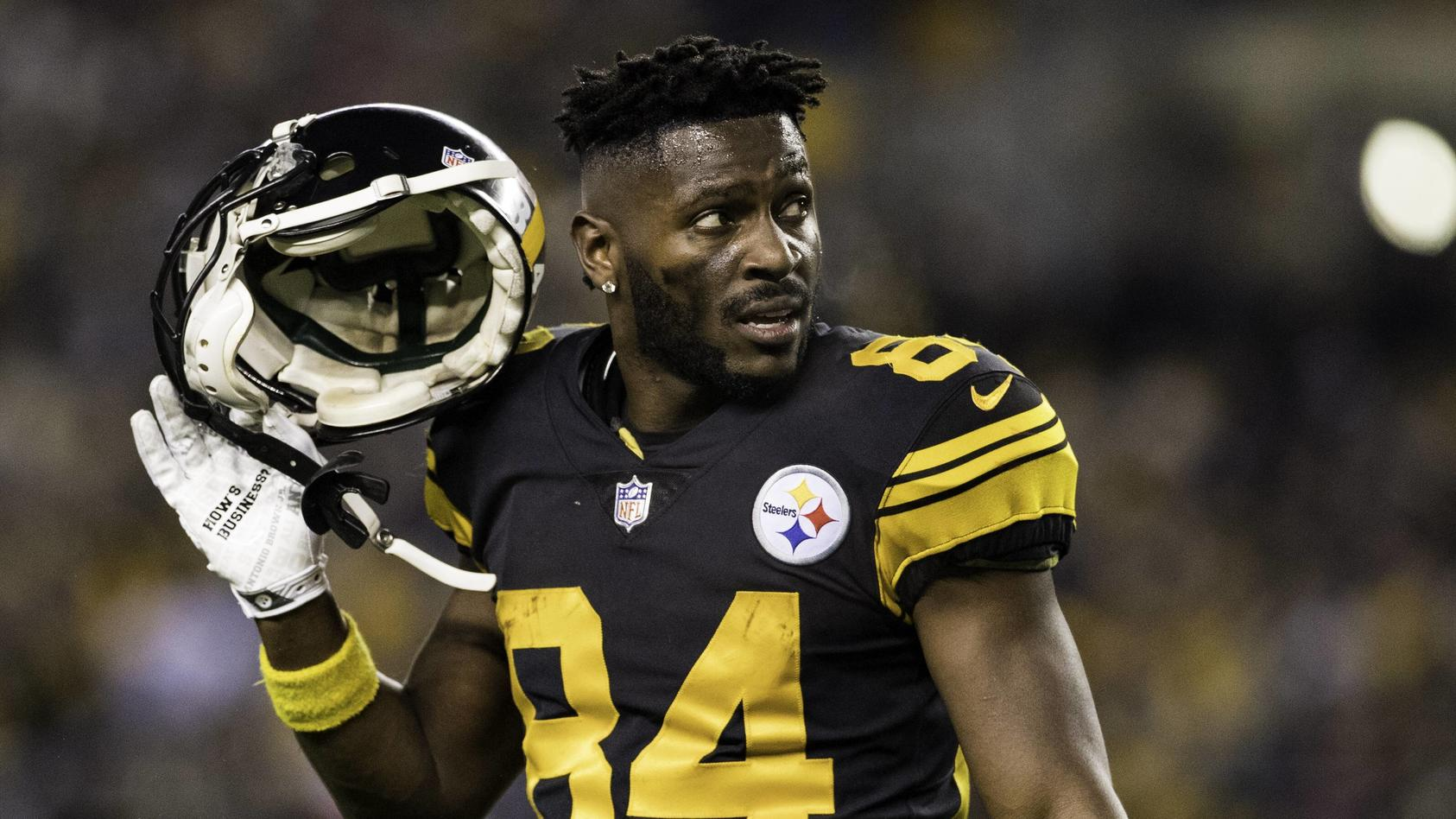PITTSBURGH PA DECEMBER 16 Pittsburgh Steelers wide receiver Antonio Brown 84 looks on during t