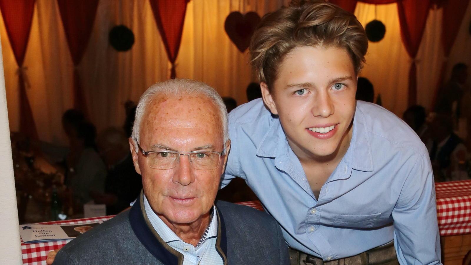 Franz Beckenbauer mit Sohn Joel