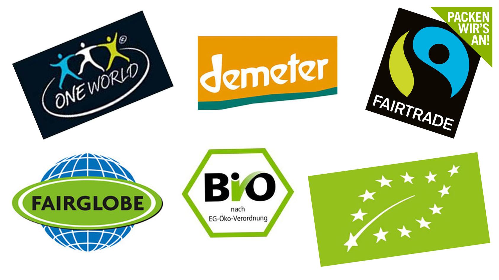Bio hier, Fairtrade da - auf Lebensmittelverpackungen geht es bunt her.