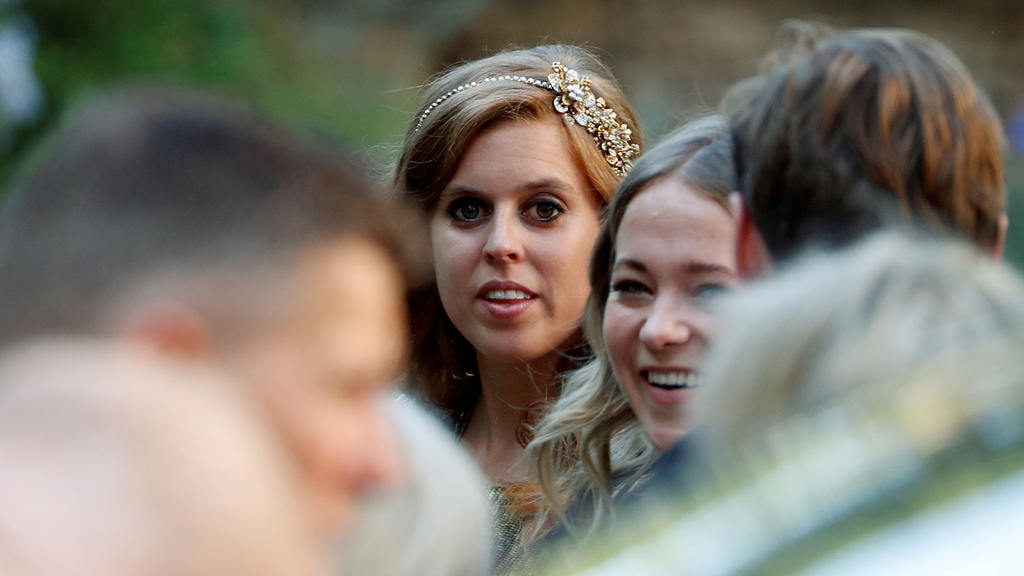 Princess Beatrice of York arrives to attend the wedding of fashion designer Misha Nonoo at Villa Aurelia in Rome, Italy, September 20, 2019. REUTERS/Yara Nardi