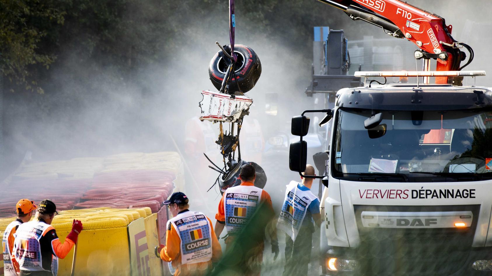 Formel 2 - Unfall beim Großen Preis von Belgien