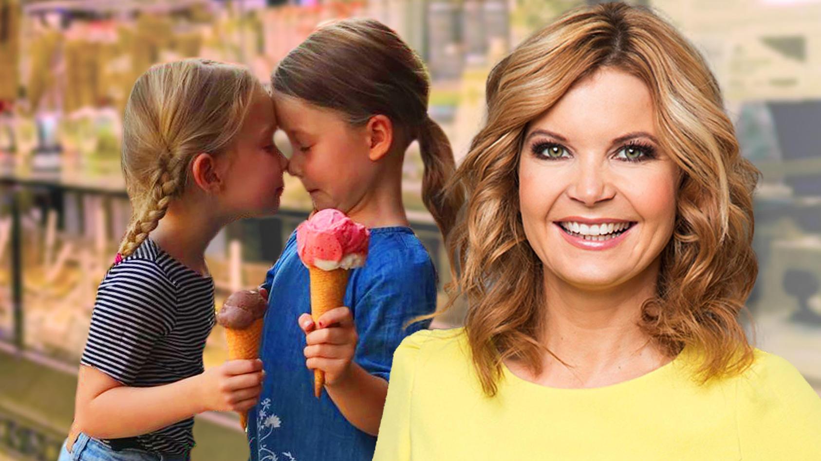 RTL-Moderatorin Eva Imhof zeigt ihr Zwillinge zwar im Netz, aber eben nur von der Seite.