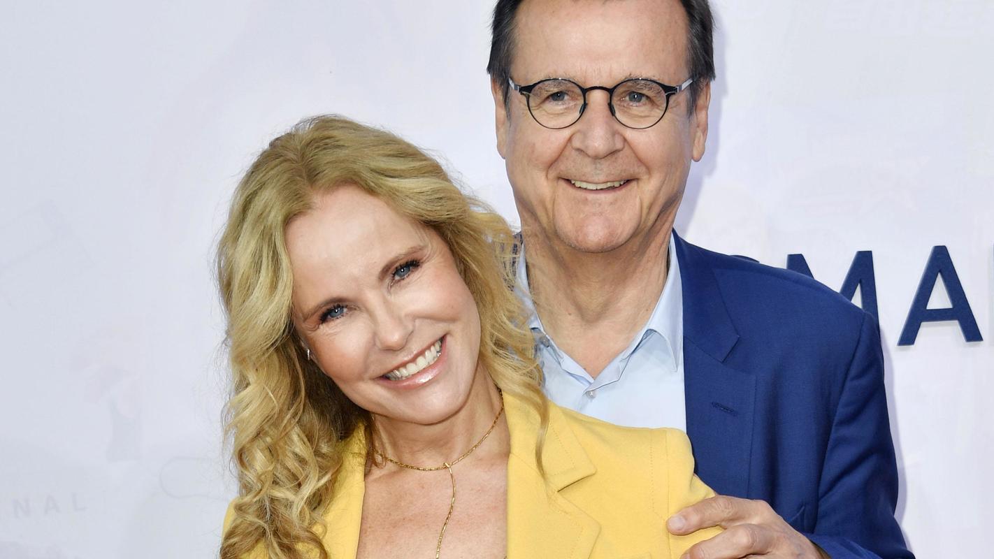 Katja Burkard mit Lebenspartner Hans Mahr.