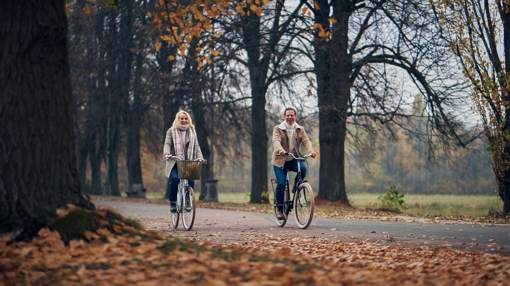 Auch im Herbst ist das Rad noch ein gutes Verkehrsmittel