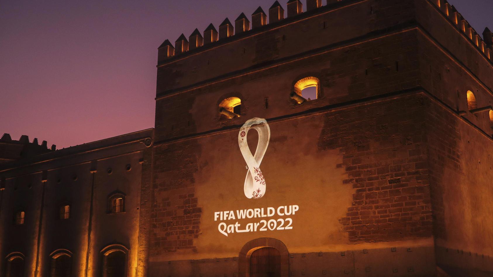 Logo der Fußball-WM in Katar 2022