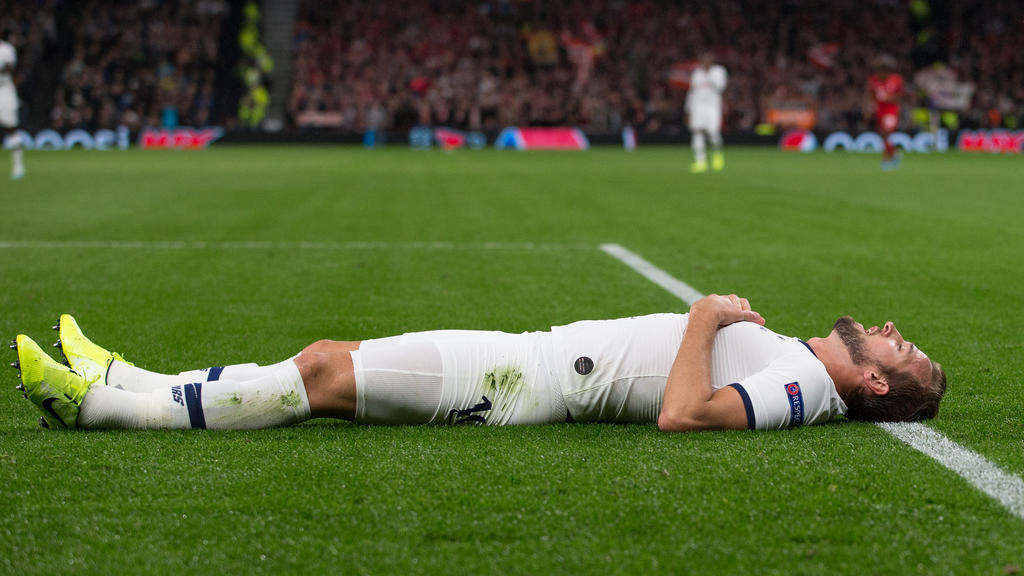Harry Kane of Spurs during the UEFA Champions League group match between Tottenham Hotspur and Bayern Munich at Wembley Stadium, London, England on 1 October 2019. PUBLICATIONxNOTxINxUK Copyright: xAndyxRowlandx PMI-3092-0010