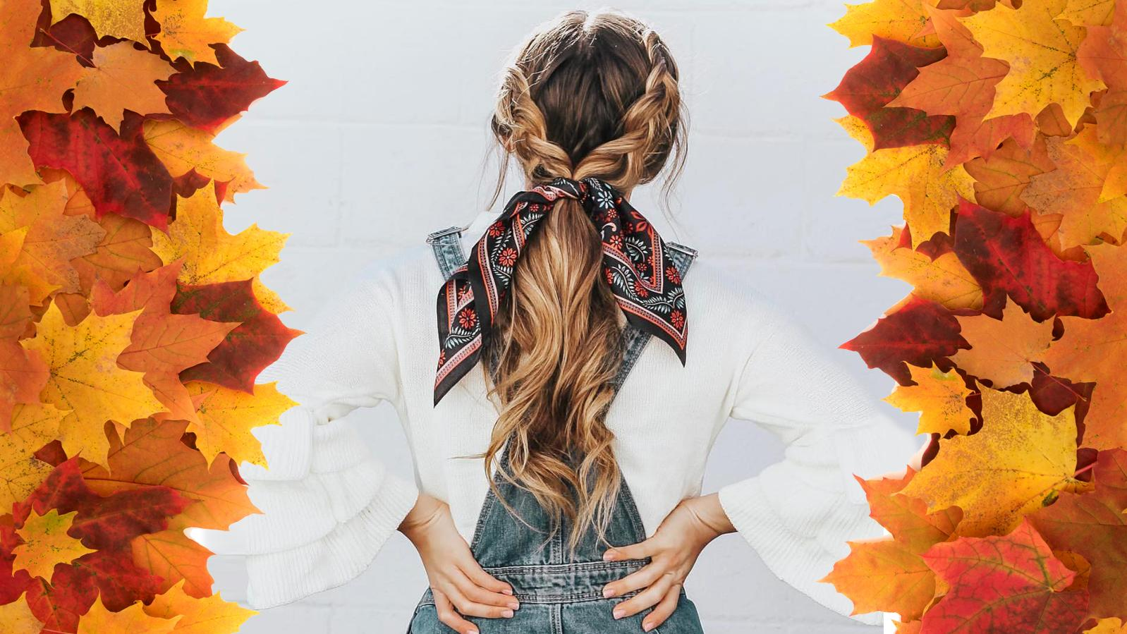 Scarf Braids sind einer der Flechtfrisuren-Trends für den Herbst!