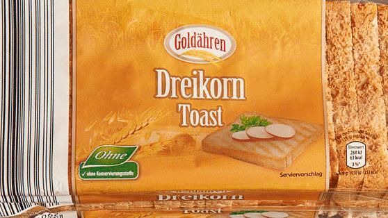Produktbild zurückgerufener Toast bei Aldi.