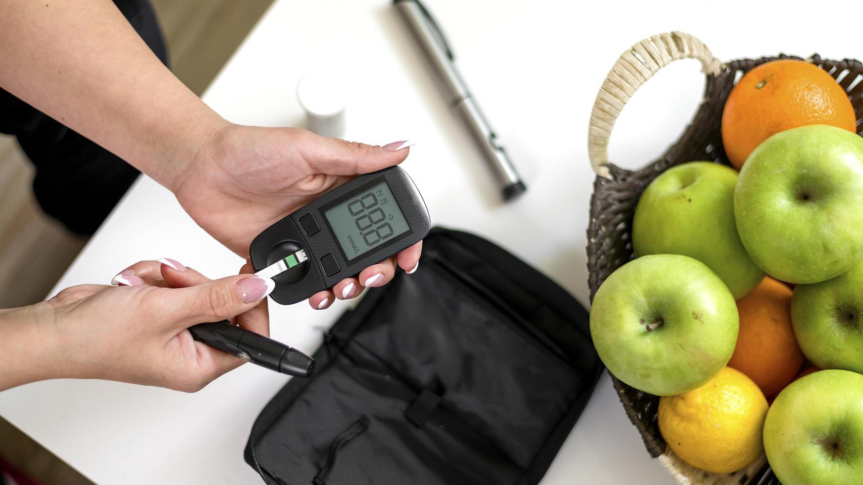 Hohe Blutzuckerwerte deuten auf Diabetes hin