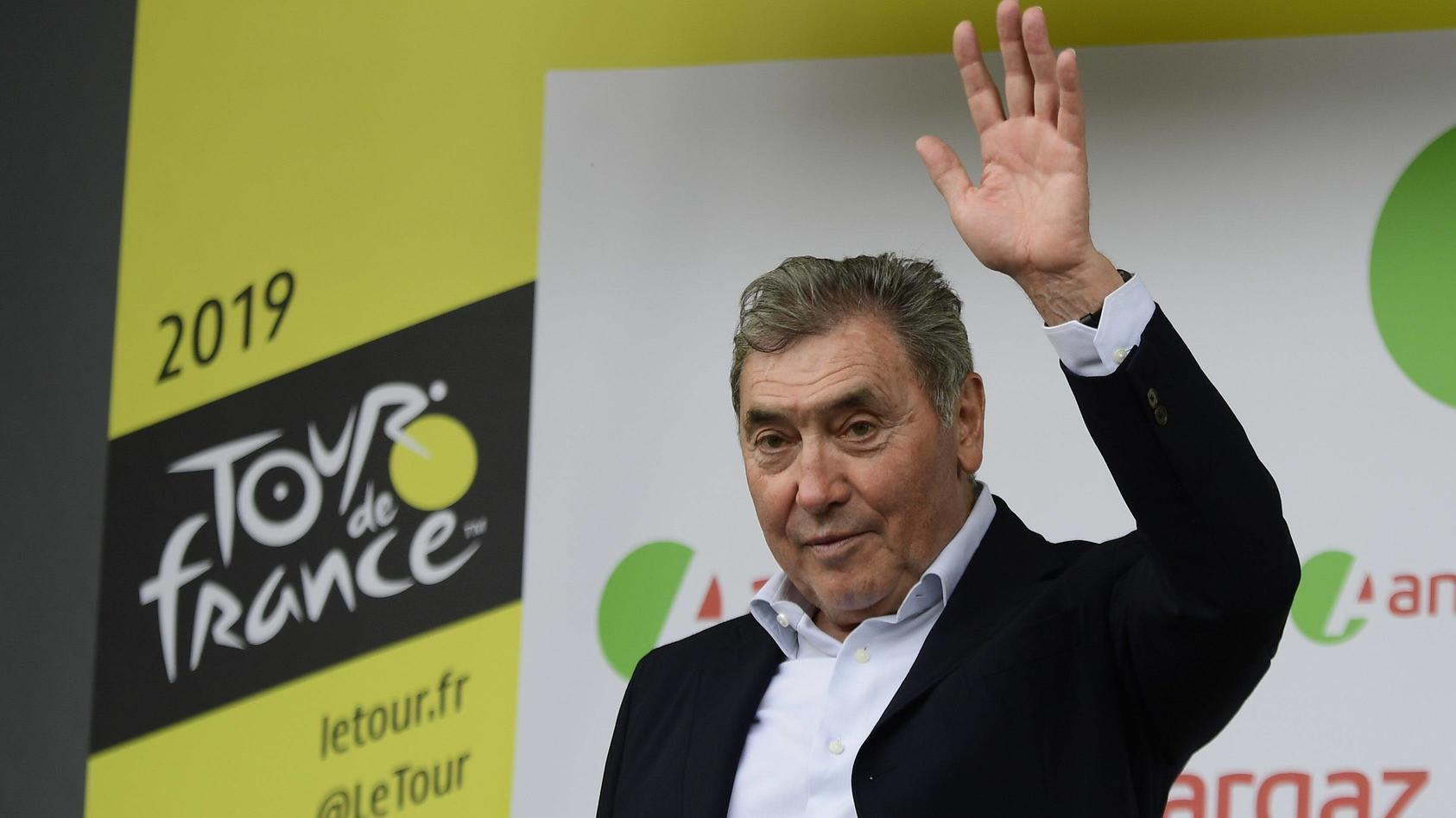 BRUSSELS, BELGIUM - JULY 6 : MERCKX Eddy pictured during stage 1 of the 106th edition of the 2019 Tour de France cyclin