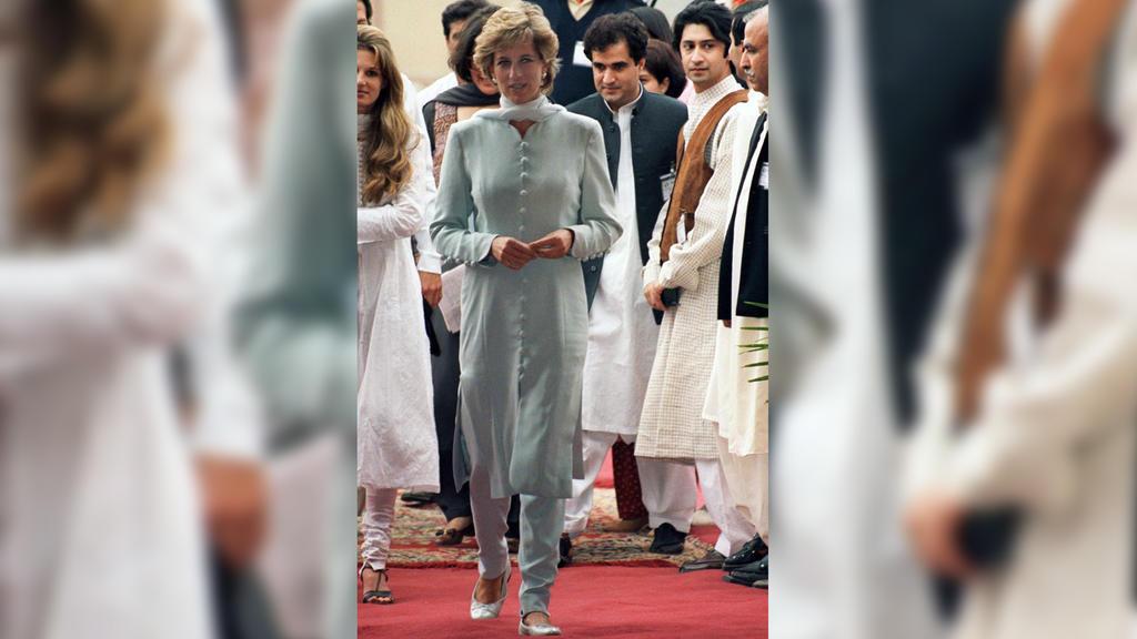 Prinzessin Diana 1996 bei ihrem Besuch in Pakistan.