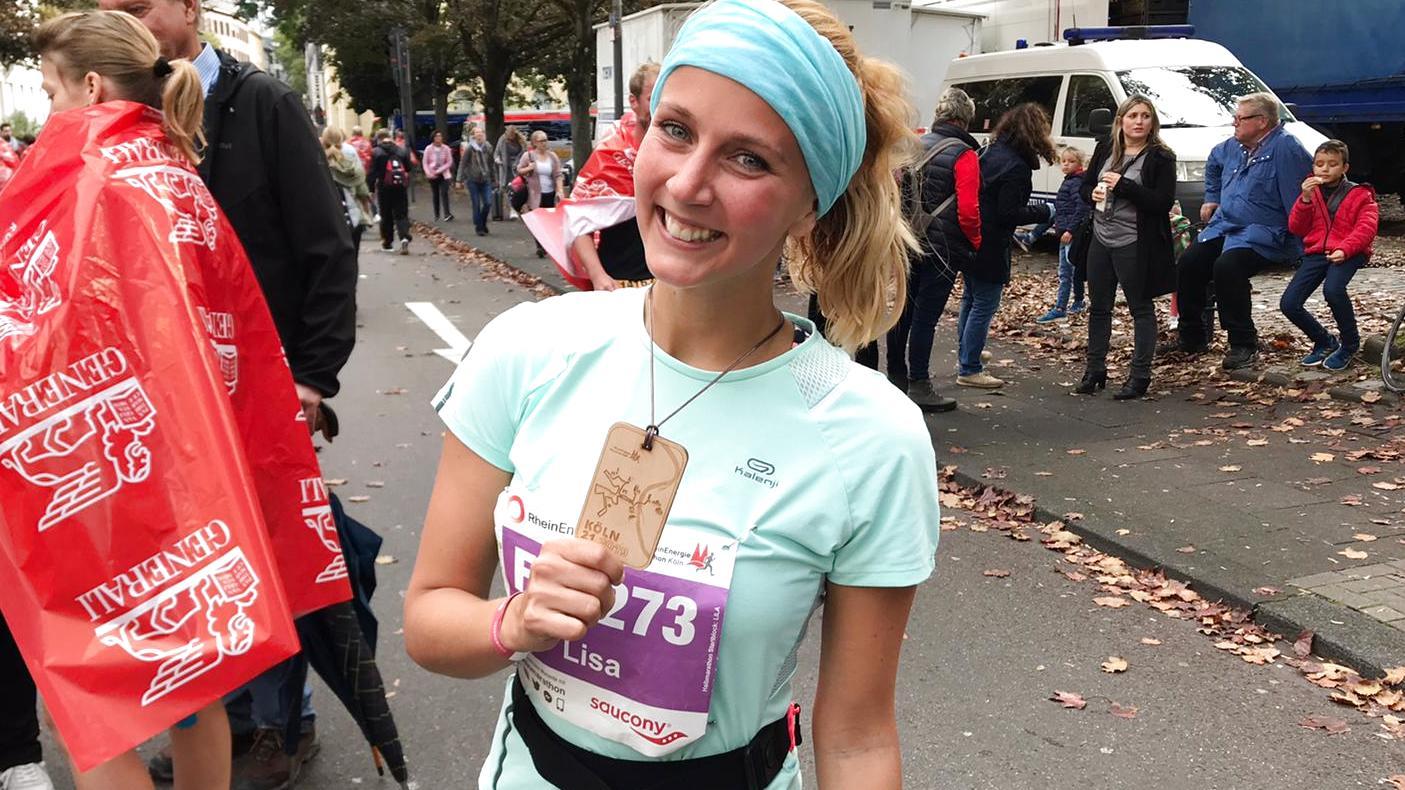 Lisa Uriel hat ihren ersten Halbmarathon geschafft.
