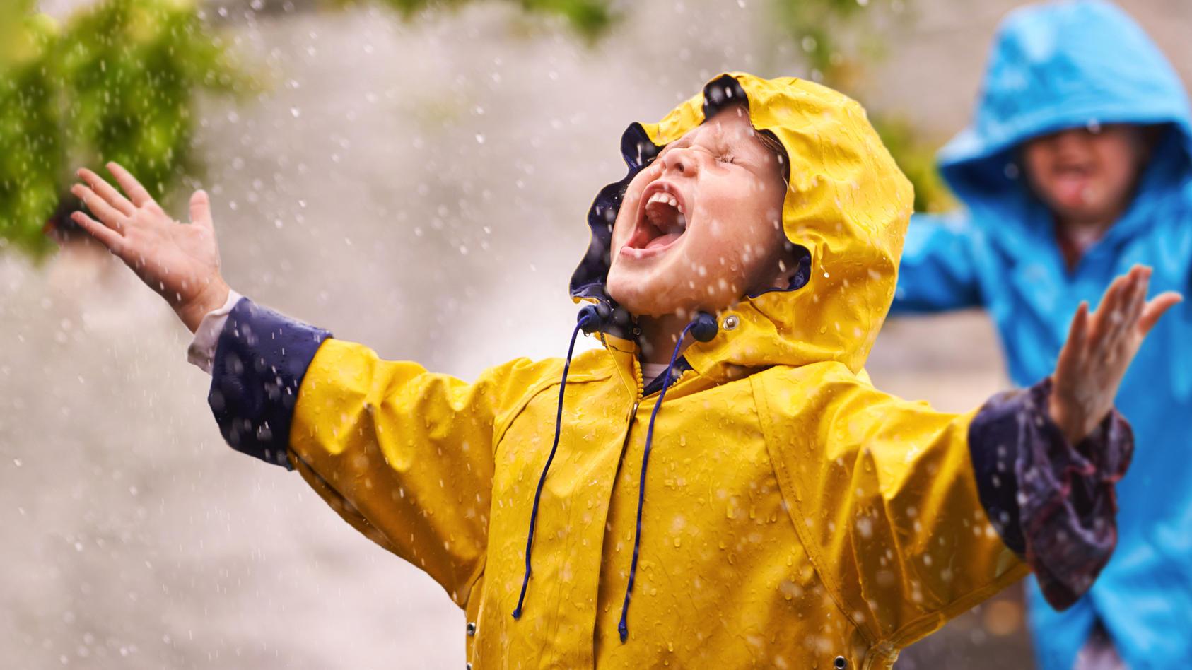 Schlechtes Wetter heißt nicht gleich schlechte Laune!