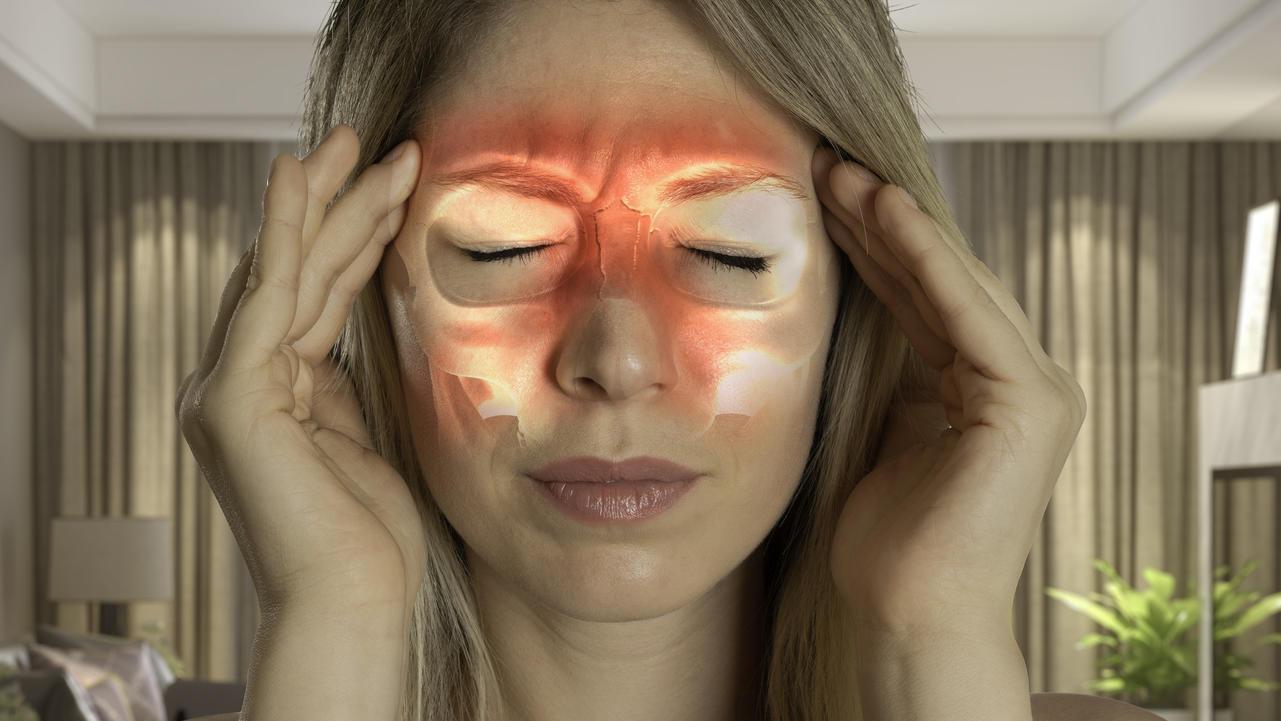 Die Nasennebenhöhlen sind luftgefüllte Hohlräume im knöchernen Schädel.