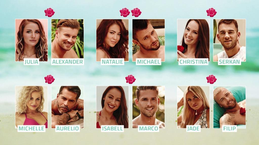 """Die Rosenpaare der zweiten Folge von """"Bachelor in Paradise"""""""