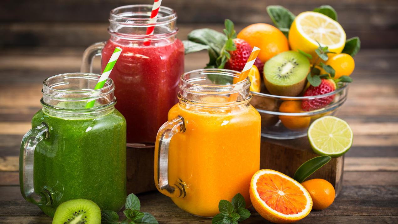 Entgiftender und Gewichtsverlust Saft