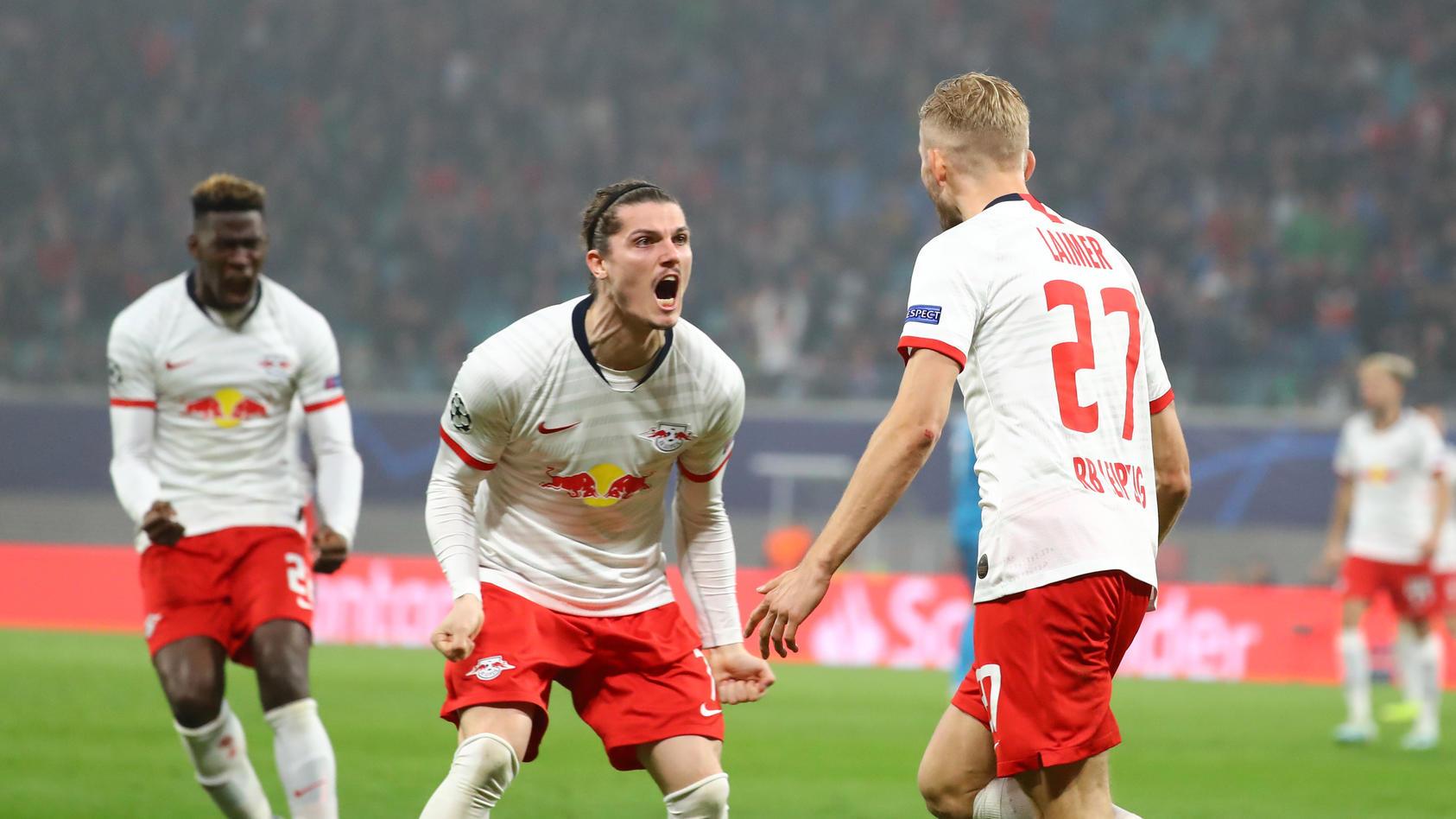 RB Leipzig - St.Petersburg / Fussball Champions League Leipzig, 23.10.2019, Red Bull Arena, UEFA Champions league , RB