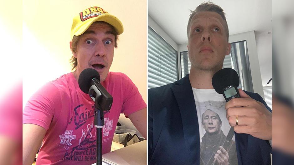 Podcaster Matze Knop und Oliver Pocher