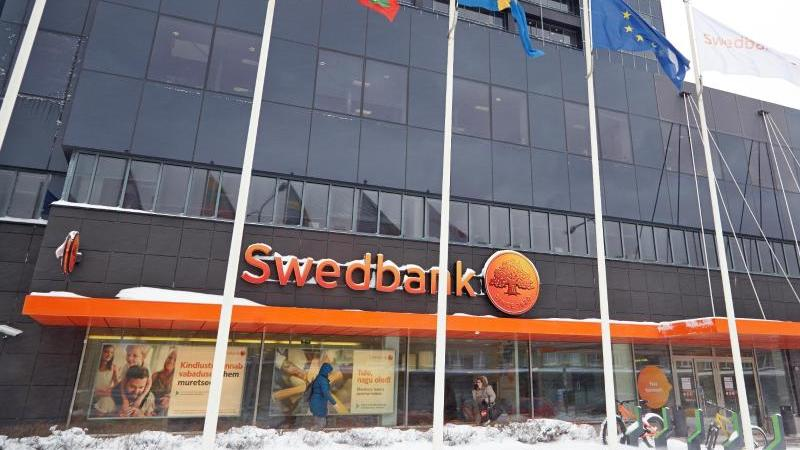 Sitz der Swedbank im estnischen Tallinn. Foto: Alexander Welscher/dpa