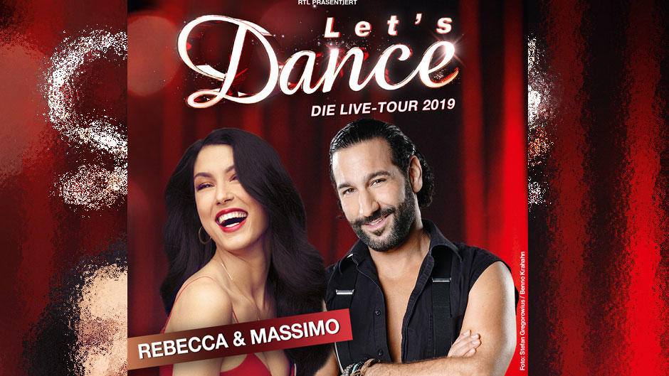 """Rebecca Mir und Massimo Sinató werden auf der """"Let's Dance""""-Tour zusammen tanzen."""