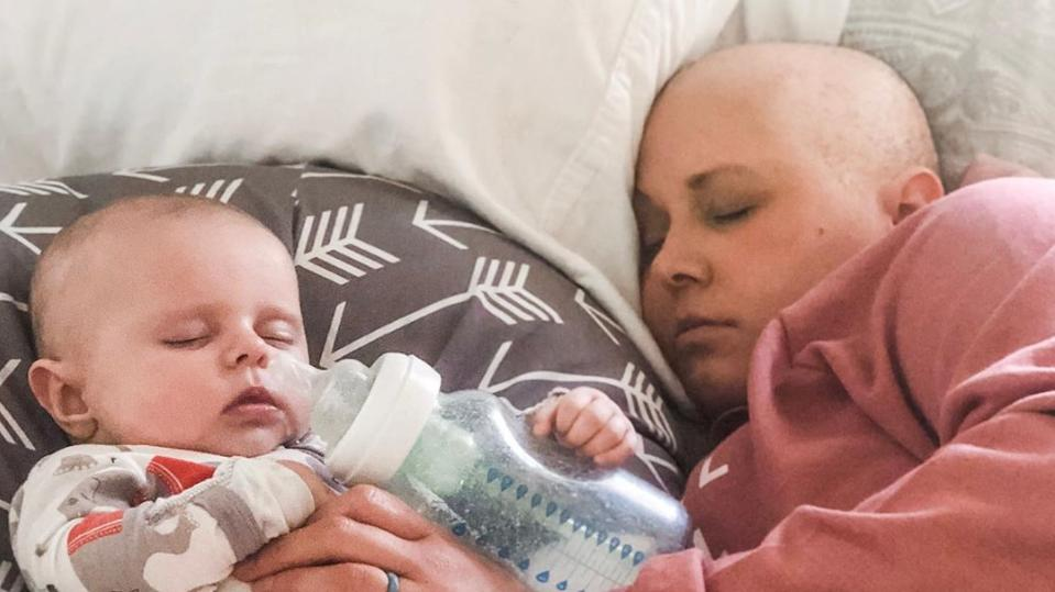 Brooke Taylor erfuhr im Juli 2019 von ihrer Brustkrebs-Erkrankung. Nur Stunden danach brachte sie eine gesunde Tochter zur Welt. Jetzt kämpft Brooke gegen den Krebs.