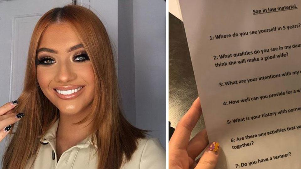 Mit 9 Fragen will der Vater von Aleisha Tubley ihren neuen Freund testen.