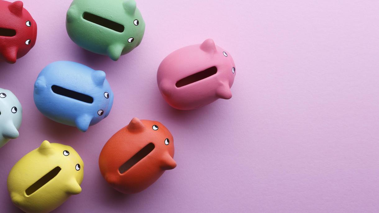 Immer schön das Sparschwein füttern, dann klappt es auch mit dem Wohlstand.