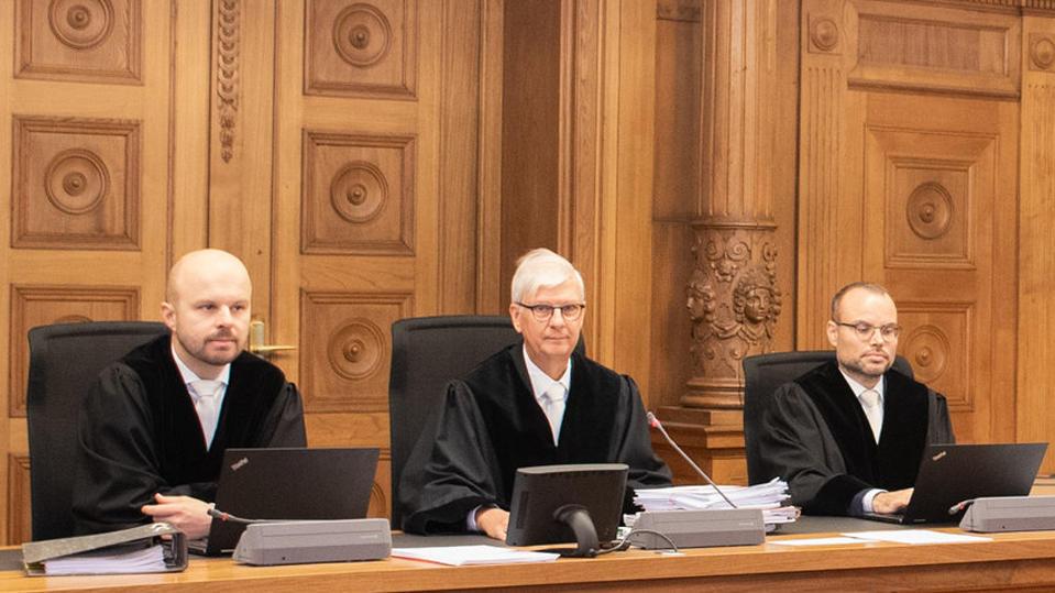 Richter am LAndgericht Tübingen, in der Mitte Ulrich Polachowski