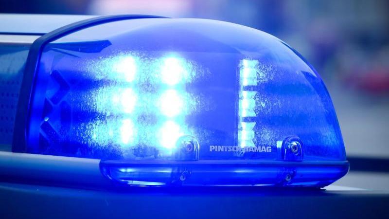 Blaulicht an einem Polizeiauto. Foto: Patrick Pleul/dpa/Archivbild