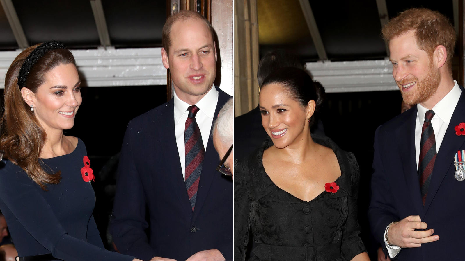 "Herzogin Kate, Prinz William, Herzogin Meghan & Prinz Harry gemeinsam beim ""Remembrance Day"""