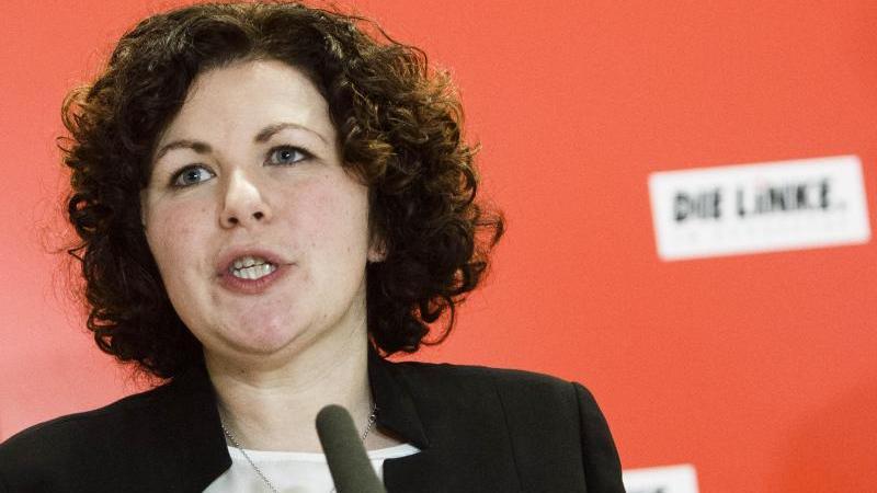 Amira Mohamed Ali, neugewählte Co-Vorsitzende der Bundestagsfraktion der Linken. Foto: Carsten Koall/dpa