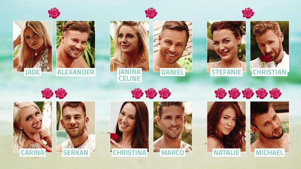 """Diese Paare haben sich in der fünften Woche von """"Bachelor in Paradise"""" gefunden."""
