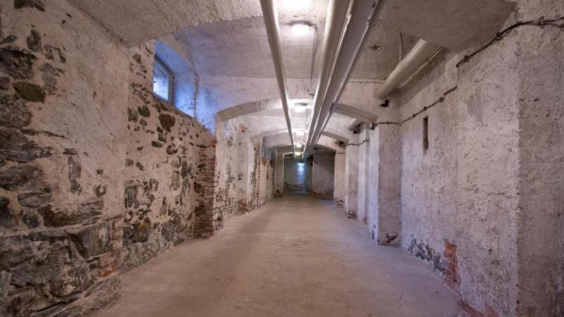 Ein Kellergewölbe in der Gedenkstätte Hadamar (Hessen). Foto: Boris Roessler/Archiv