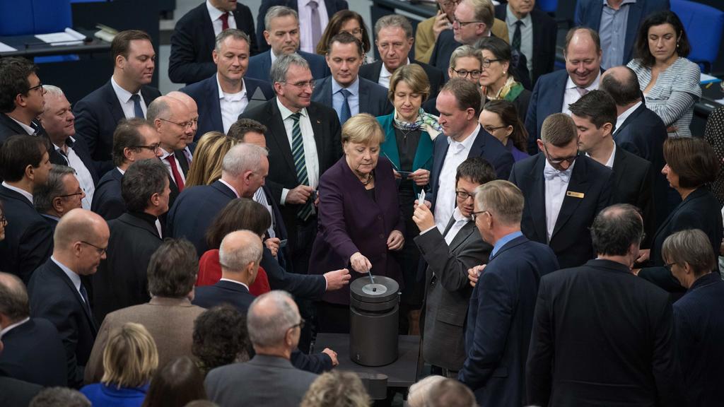 Abstimmung über Klimaschutz im Bundestag