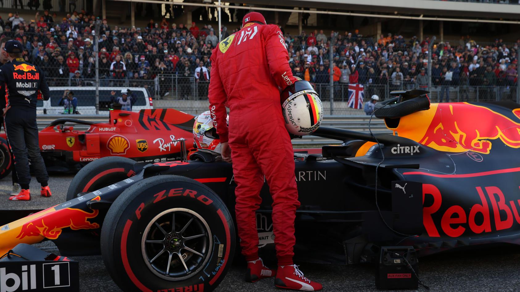 Vettel und Verstappen